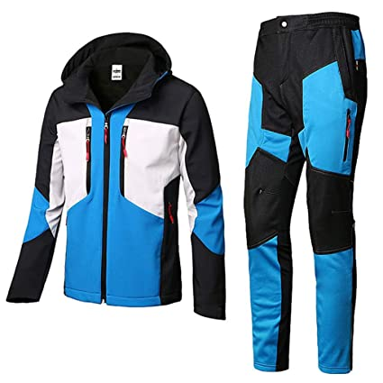 Traje de impermeable portátil Traje de lluvia para hombres Ropa impermeable reutilizable (Conjunto de chaquetas y pantalones de lluvia) Adultos ...