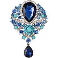 8791fa123 YAZILIND Lily Flower Inlaid Rhinestones Alloy Zirconia Pendant Brooch Pin  for Women Girls Accessories