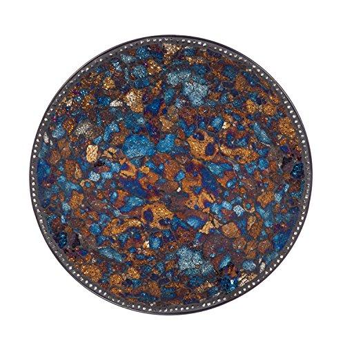 New Creative Crushed Mosaic Glass and Metal Bird Bath Bowl (Pattern Pedestal Bowl)