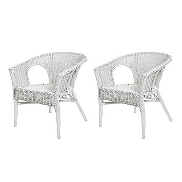 Rotin Design REBAJAS : -49% Lote de 2 sillones de mimbre Chris ...