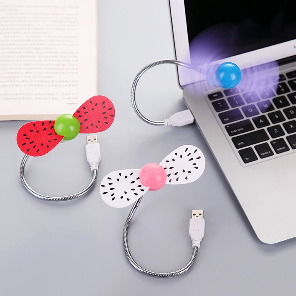 Red POOYA Mini Fan Portable Fan for Laptop Computer USB Cooling Fans for Notebook Flexible Multicolor 1 Pcs