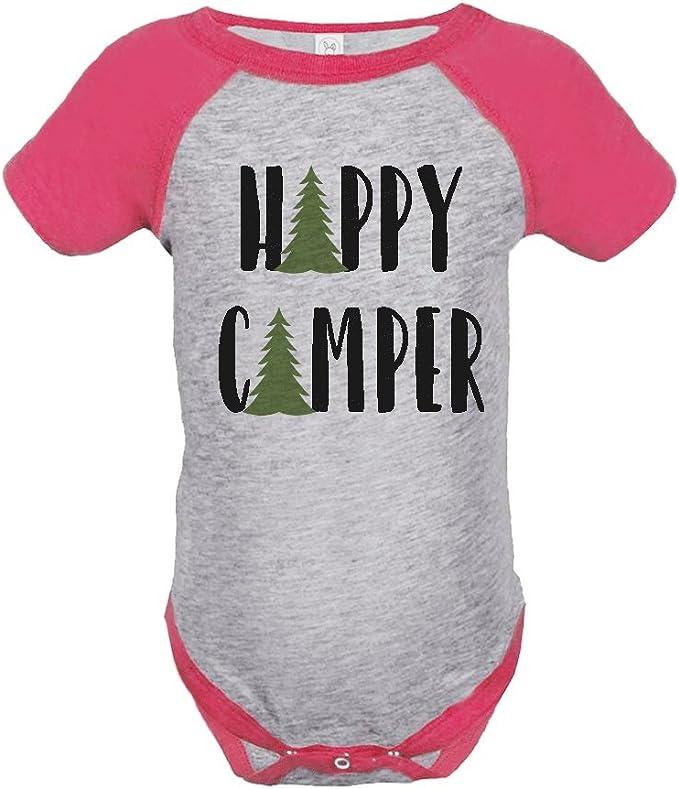 Custom Party Shop Girls Happy Camper Outdoors Raglan Tee