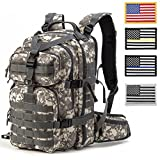 Gelindo Military Tactical Assault/Hydration Backpack with USA Flag Patches of 4, Camouflage