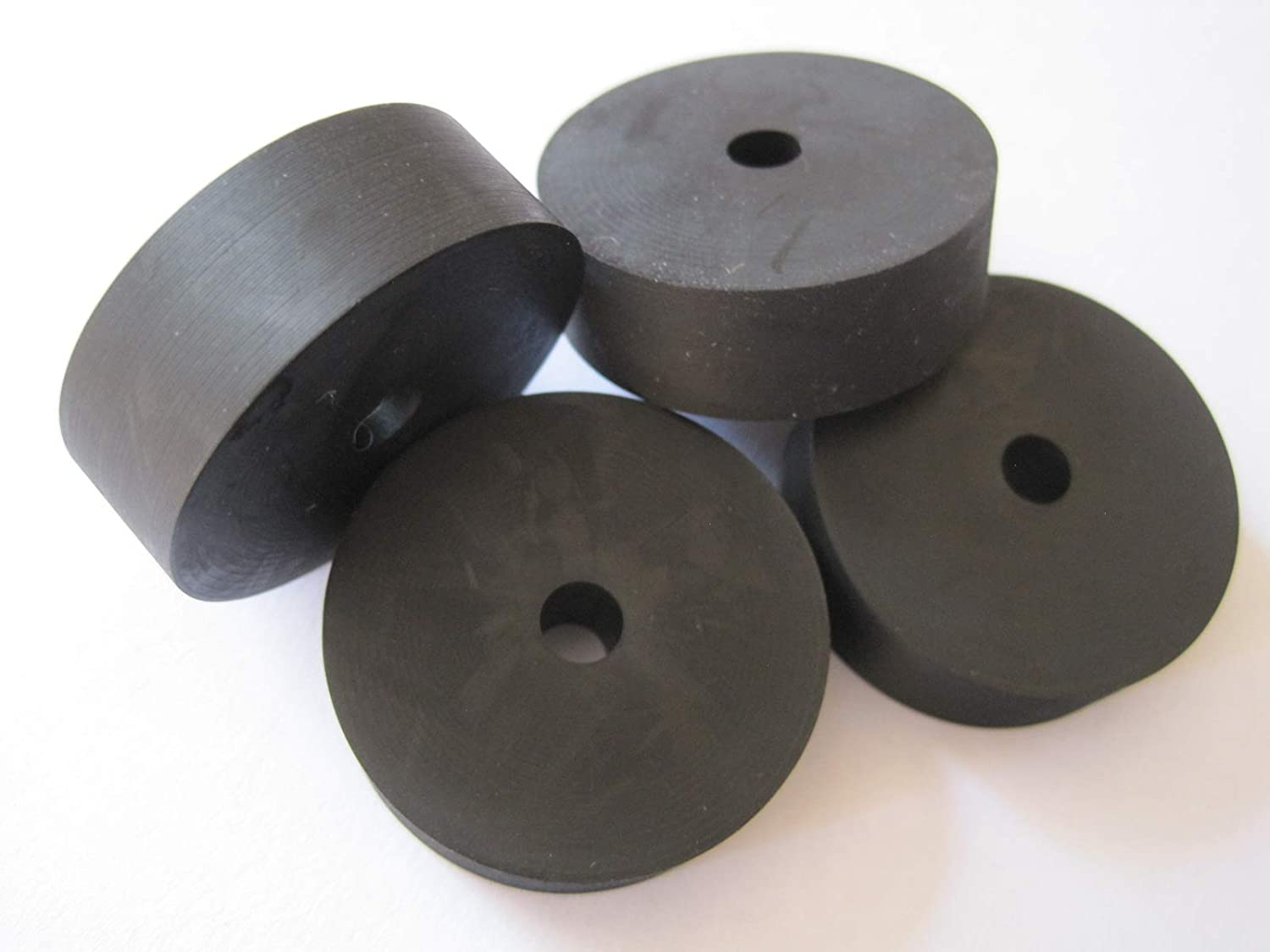 """Thick Rubber Round Spacers 1//4/"""" Thick 1//2/"""" ID x 1 1//2/"""" OD Various Pack Sizes"""