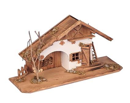 Maqueta de casa y pesebre (madera, 55 cm): Amazon.es: Hogar