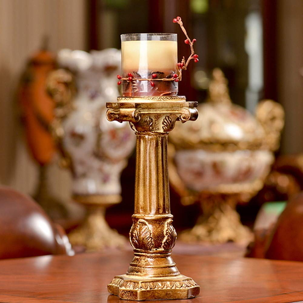 Gelaiken Candlestick Candle Holder European Style Plastics Candle Holders Candelabra 1pc, Candlestick Decorated Table Centre Christmas Decoration for Anniversary Celebration Coffee