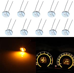 SCITOO 10Pcs 4.7mm Dash Light Bulbs Instrument Gauge Cluster Light Bulbs Speedometer Gauge Cluster Lights