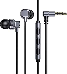 Hi-Res Earphones for iPhone 6/6S, iPad Air Mini Pro, iPod, Noise Isolation Earbud Headphone Compatible for Samsung Galaxy S10 S9 Note 9, Pixel 4A 3A, Sony Xperia L3 L2 XA2, Nintendo Switch, PS4