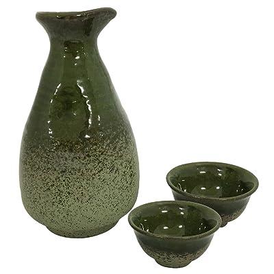 結彩の蔵 酒器セット(1.5合) 若草織部 ウ278-706,726