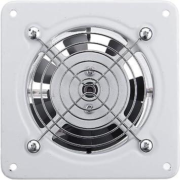 Ventilador de aire de 10 cm y 25 W, ventilador de escape 220 V tipo ventana, extractor de pared silencioso, ventilador, ventana, baño, cocina, inodoro: Amazon.es: Bricolaje y herramientas