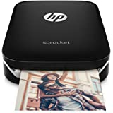 HP Sprocket Black Bundle. Printer + Sticky-Backed Photo Paper (10-sheets)
