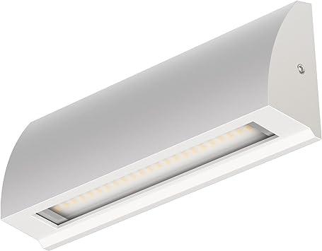 ledscom.de LED lámpara de pared Segin lámpara de escalera para interior y exterior, plano, Aufbau, blanca cálida, 400lm: Amazon.es: Iluminación