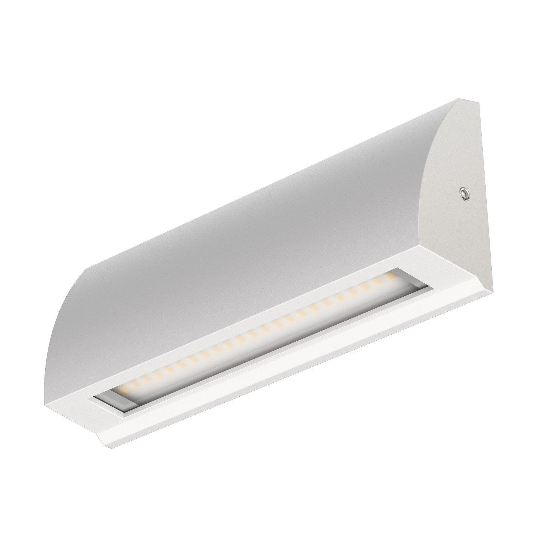 Silber-Gris Blanche-Froide 400lm aufbau ledscom.de LED Applique Segin luminaire d/´escalier pour lint/érieur et lext/érieur Plat