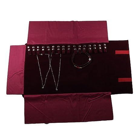 Amazoncom UnionPlus Small Travel Jewelry Case Roll Bag Organizer
