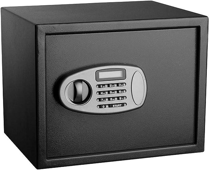 Caja Fuerte Secreta Ignifuga, Gabinete De Llaves Digital Seguridad Cerradura De CombinacióN ElectróNica Pared Piso Almacenamiento De Alta Seguridad De Acero, Black: Amazon.es: Deportes y aire libre