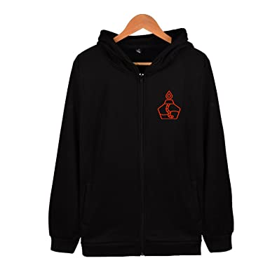 Outdoor Mens Zip Up Hoodie Lightweight Embroidered Chemical ...