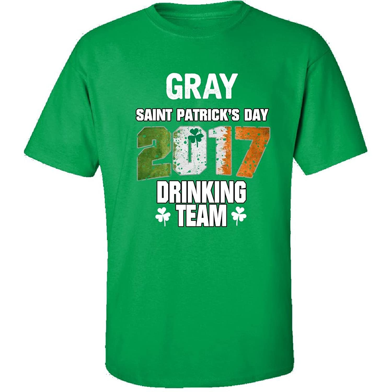 Gray Irish St Patricks Day 2017 Drinking Team - Adult Shirt