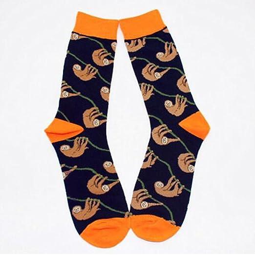 Par de calcetines para hombre, de algodón, cómodos y transpirables de ZooArts® Sloth: Amazon.es: Hogar
