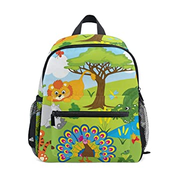 BALII Cartoon Safari Animals Toddler Backpack Book Bag School Rucksack for  Girl Boy Children  Amazon.co.uk  Luggage 3c65f0c08773a