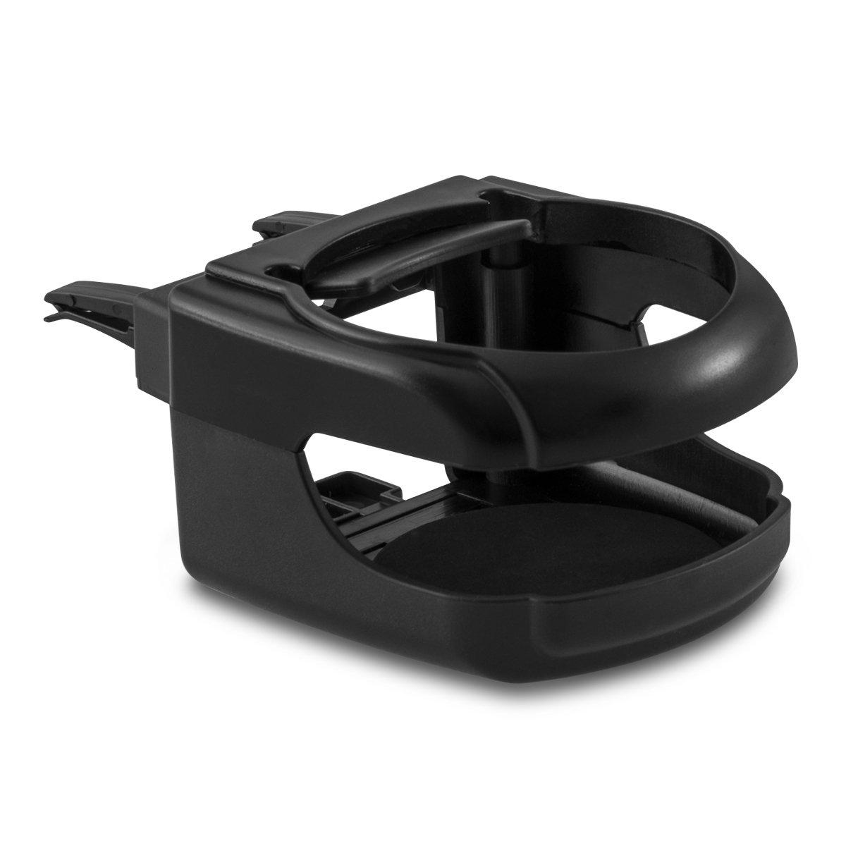 kwmobile Porte-Boissons pour Fente d'aération de la Voiture en Noir - Voiture Auto Porte-gobelet Fente d'aération