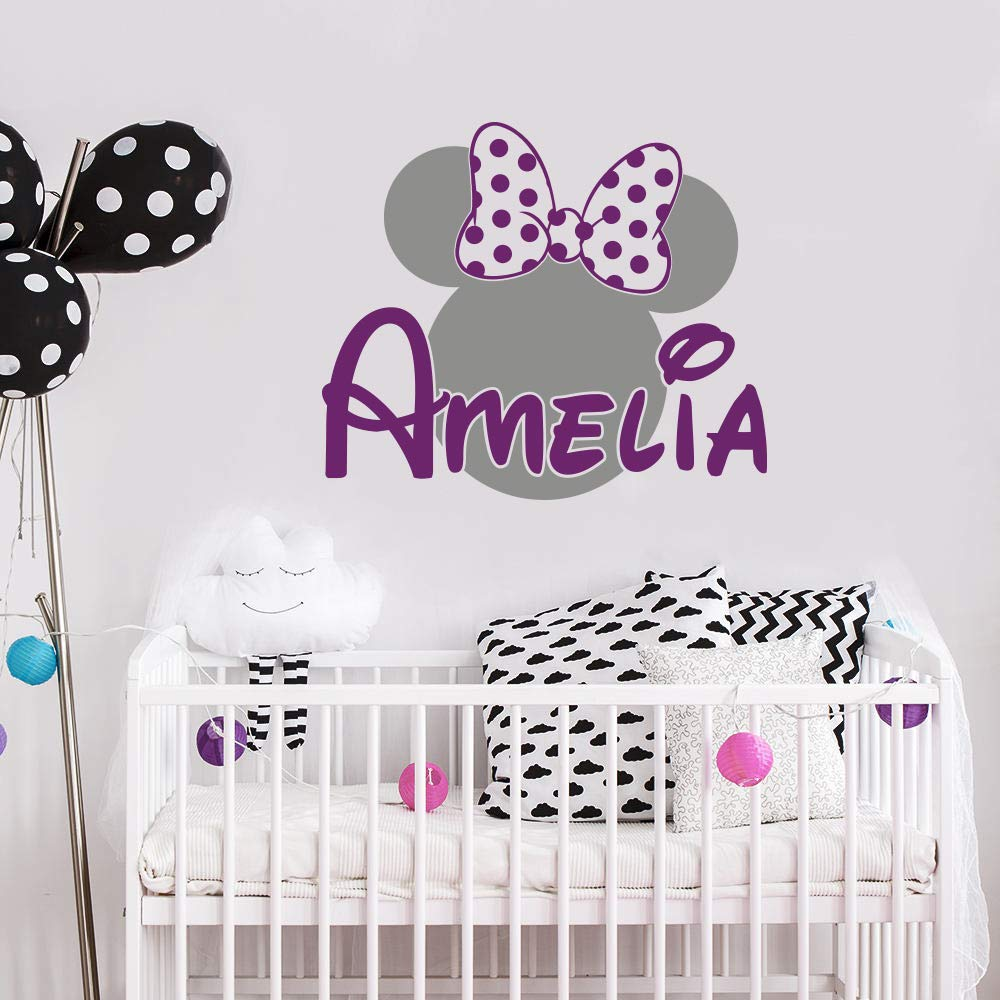 Amazon.com: Personalized Minnie Mouse Wall Decal Name Girl ...