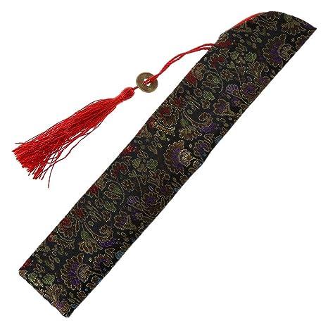 Kalttoy - Bolsa plegable de seda para abanico de mano con ...