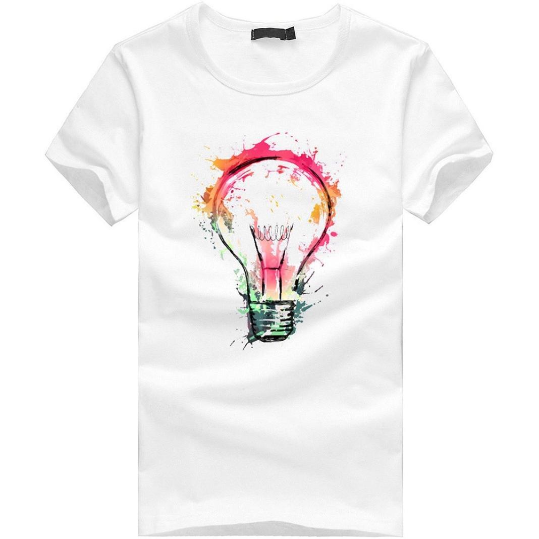 Elecenty T-shirt Bianche Calde T-Shirt Gli Uomini di Stampa Tees Camicia t Shirt Camicetta a Maniche Corte