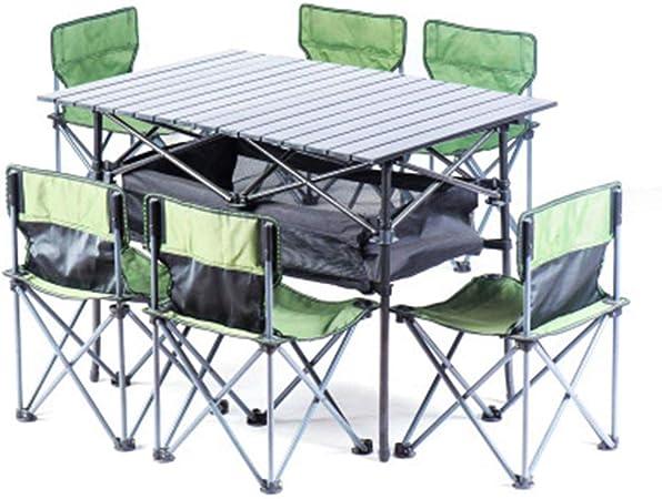 K.W Mesas Plegables de Camping, mesas de Picnic portátil ...