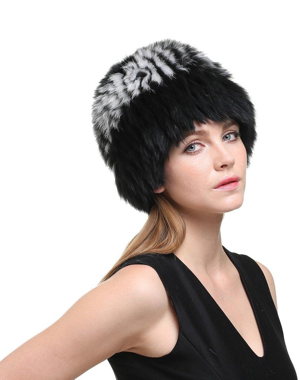 Vogueearth Damen'Echte Fuchs Pelz Winter Warmer Beanie Hut Mütze