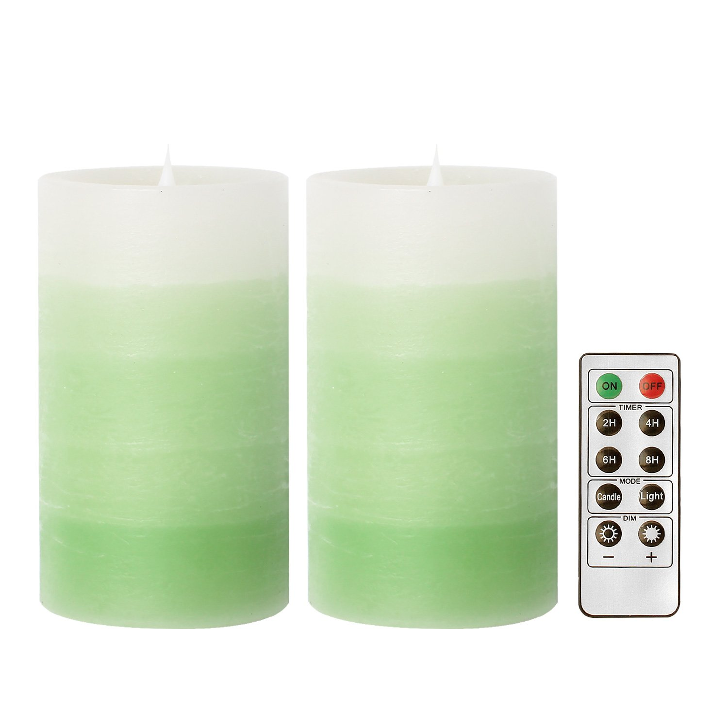 GiveU 3D Flame Led Candle with Remote, 2 Pack Moving Wick Candle for Home Decor, Weddings, and St.Patrick s Day Decoration, Battery Included