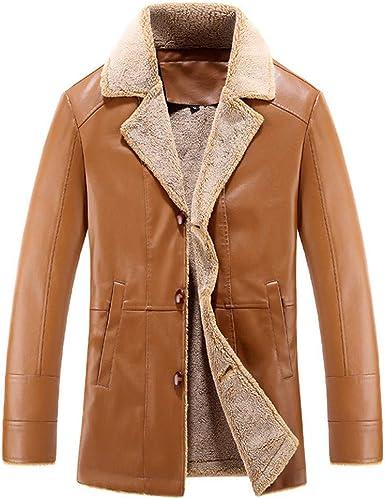 veste cuir homme mi longue