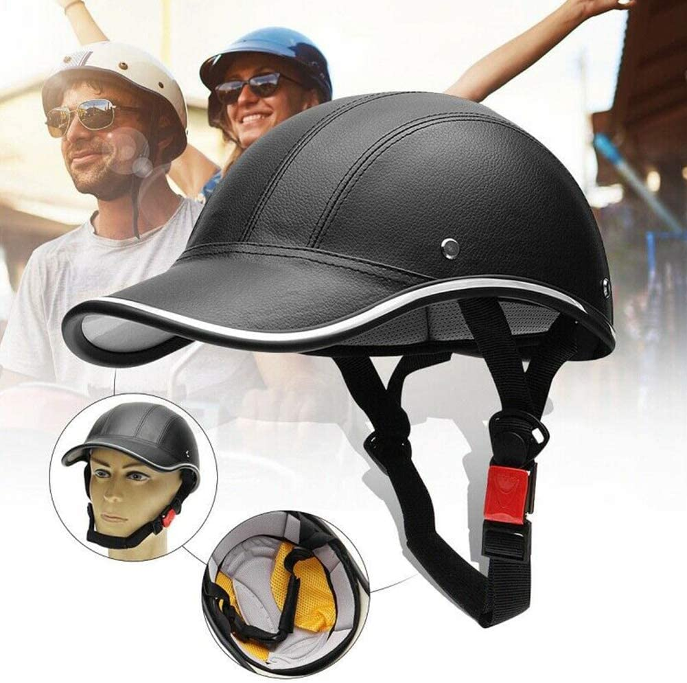 Baseball Cap Style Motorcycle Bike Helmets Anti-UV Safety Hat Visor Adjustable