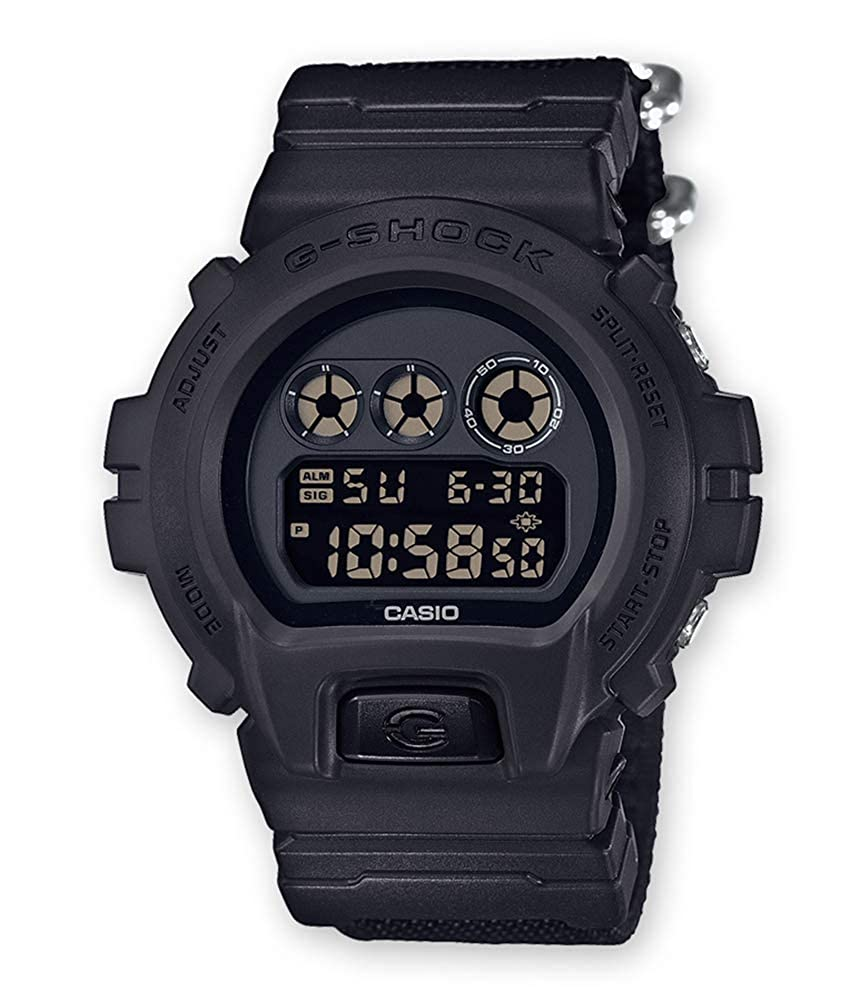 Casio Reloj Digital para Hombre de Cuarzo con Correa en Nailon DW-6900BBN-1ER