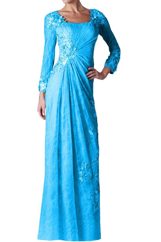 (ウィーン ブライド)Vienna Bride 披露宴用母親ドレス ロングドレス 演奏会 発表会 結婚式 母親用ドレス ママドレス 長袖 全12色 コンサート B01IP502O0 7|ブルー ブルー 7