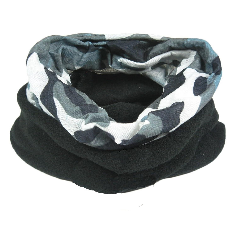 Schlauchtuch für Männer, multifunktional. Schal, Mütze, Nackenwärmer, Kapuze, Sturmhaube mit Innen-Fleece