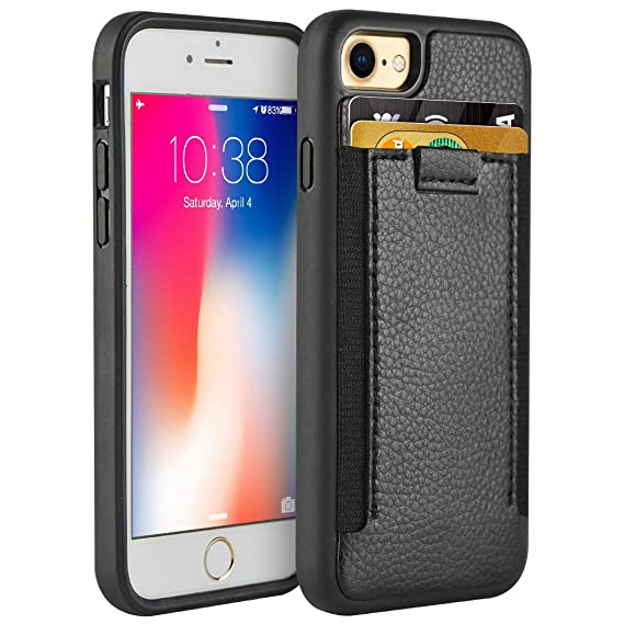 best loved 51063 01e37 iPhone 8 Wallet Case with Card Holder, ZVEdeng iPhone 7 Wallet Case, iPhone  8 Case with Elastic Strap, Durable and Slim iPhone 7 case Shockproof Cover  ...