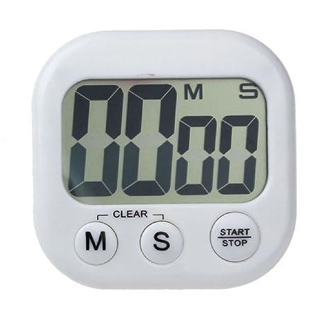 Cocina Temporizador - TOOGOO(R)Magnetico cocina digital LCD cuenta atras hasta contador temporizador