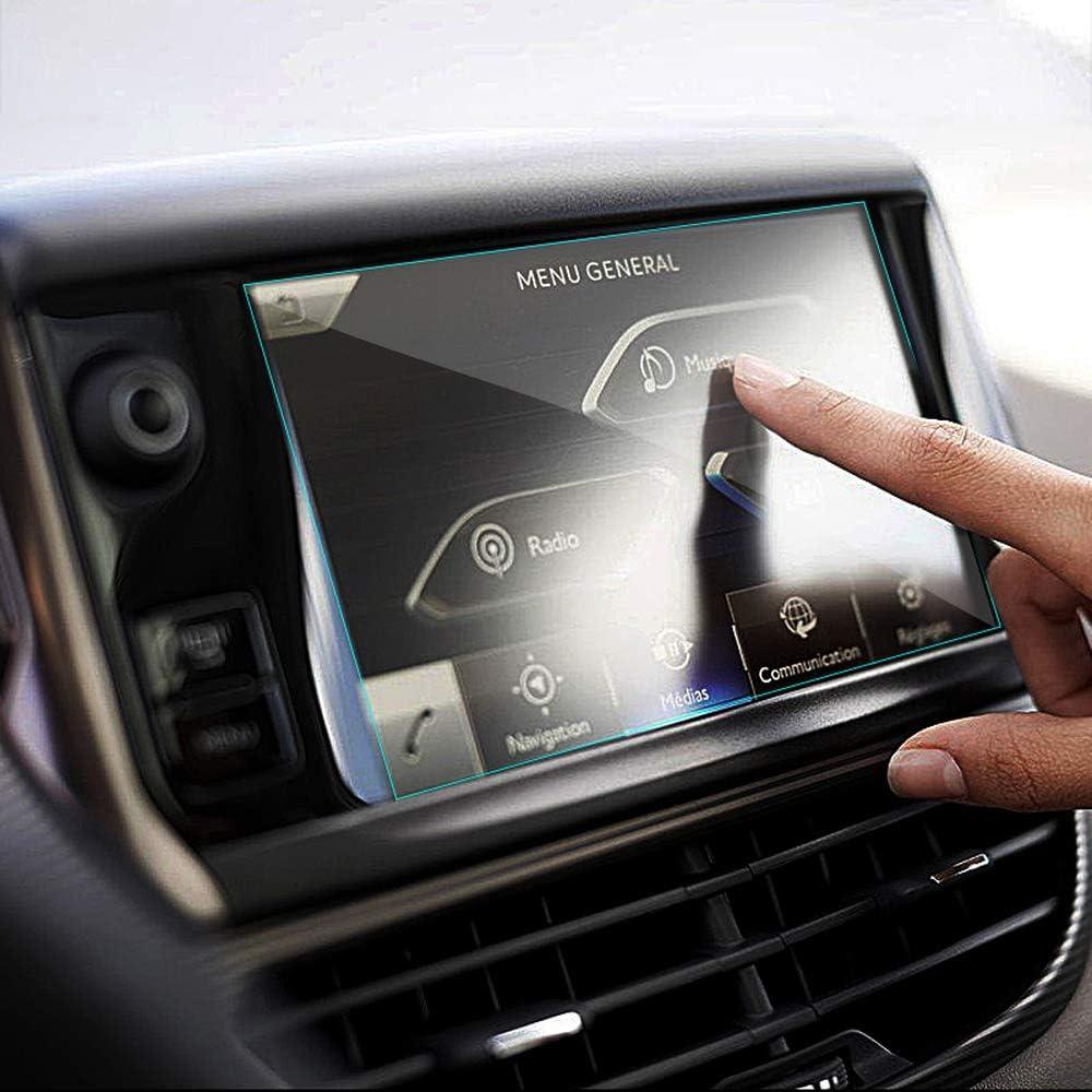 OIOBOMBG Pantalla de navegación GPS para Coche de 9.7 Pulgadas Control de película Protectora de Acero Templado de Pegatina de Pantalla LCD, para Peugeot 308 408 508 208 308S,: Amazon.es: Deportes y aire libre