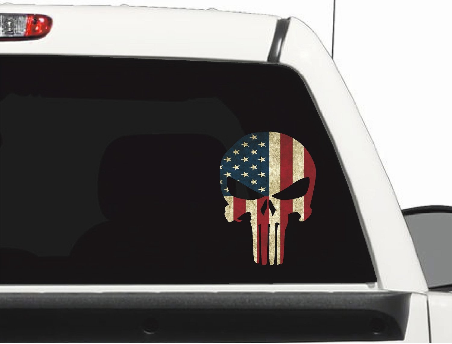 Punisher American Flag Skull Grudge Decal 10 Inches Laminated