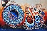 Islamic Wall Art Hand Painted Oil On Canvas Individual Islamic Calligraphy - Surah Al-Ikhlas & Surah An-Nas - Unframed