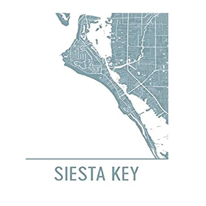 Amazon Com Modern Map Art Siesta Key Map Sarasota Art Siesta Key