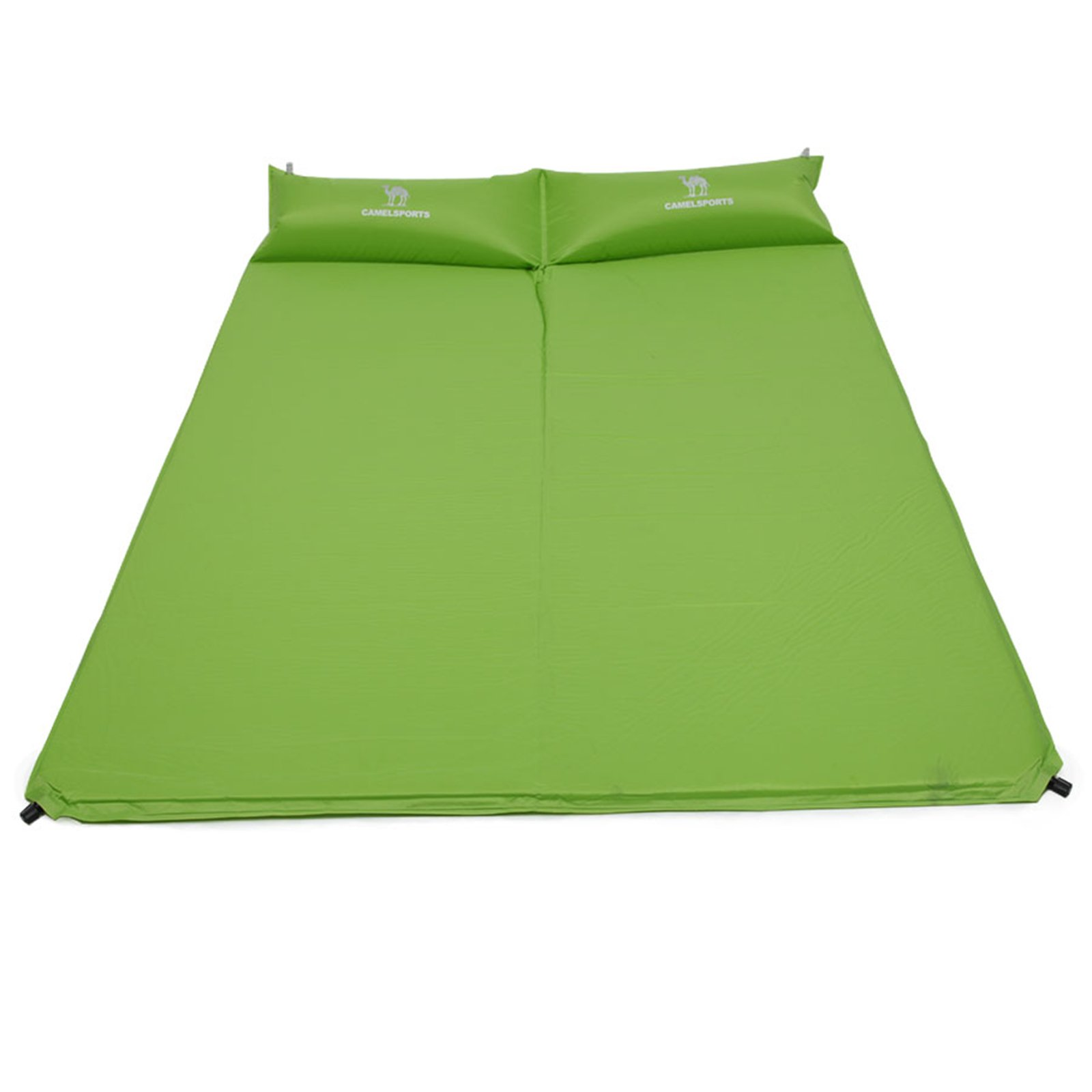 CAMEL Double Self-Inflating Sleeping Pad with Attached Pillow, Comfortable for 2 Person Camping, Hiking, Beach by CAMEL