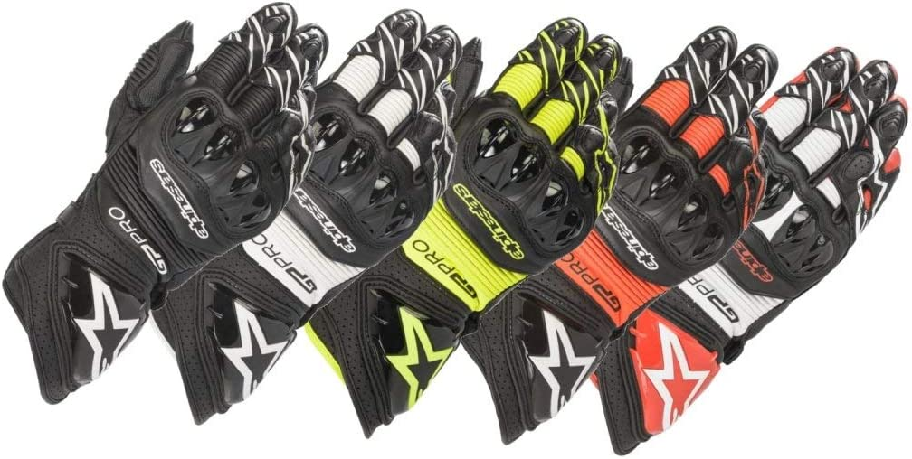 Guanti Moto GP PRO R3 Gloves Black Red Fluo Alpinestars