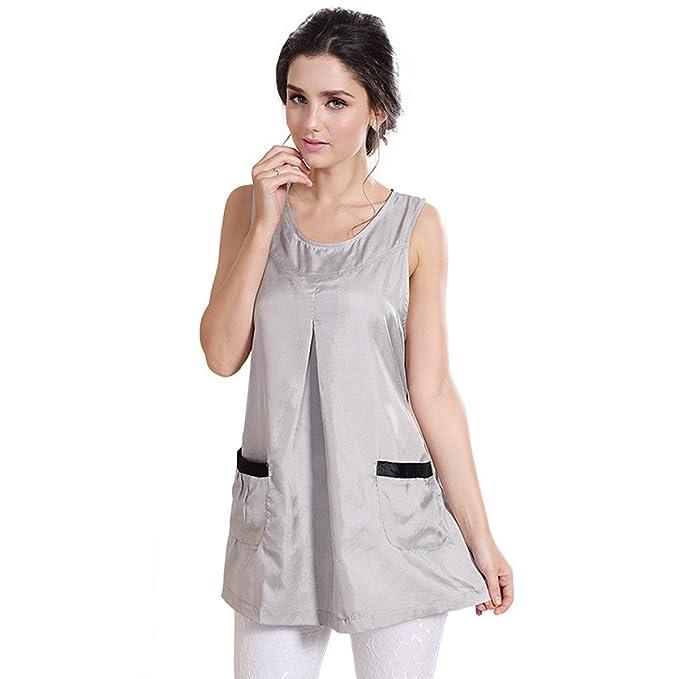 Fibra de plata Anti-radiación Maternidad Ropa Tank Top Protección Shild vestido SH007