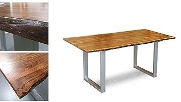 Möbel Akut Massivholz Tisch Agra Esstisch 160x90 Cm Akazie Baumkante