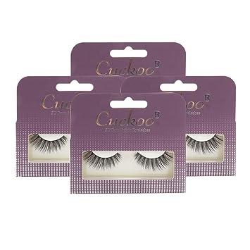 Cuckoo Eyelashes 100% Handmade 3D Faux Mink Lashes with 0 07mm PBT Fiber 4  Pairs/set Cuckoo308