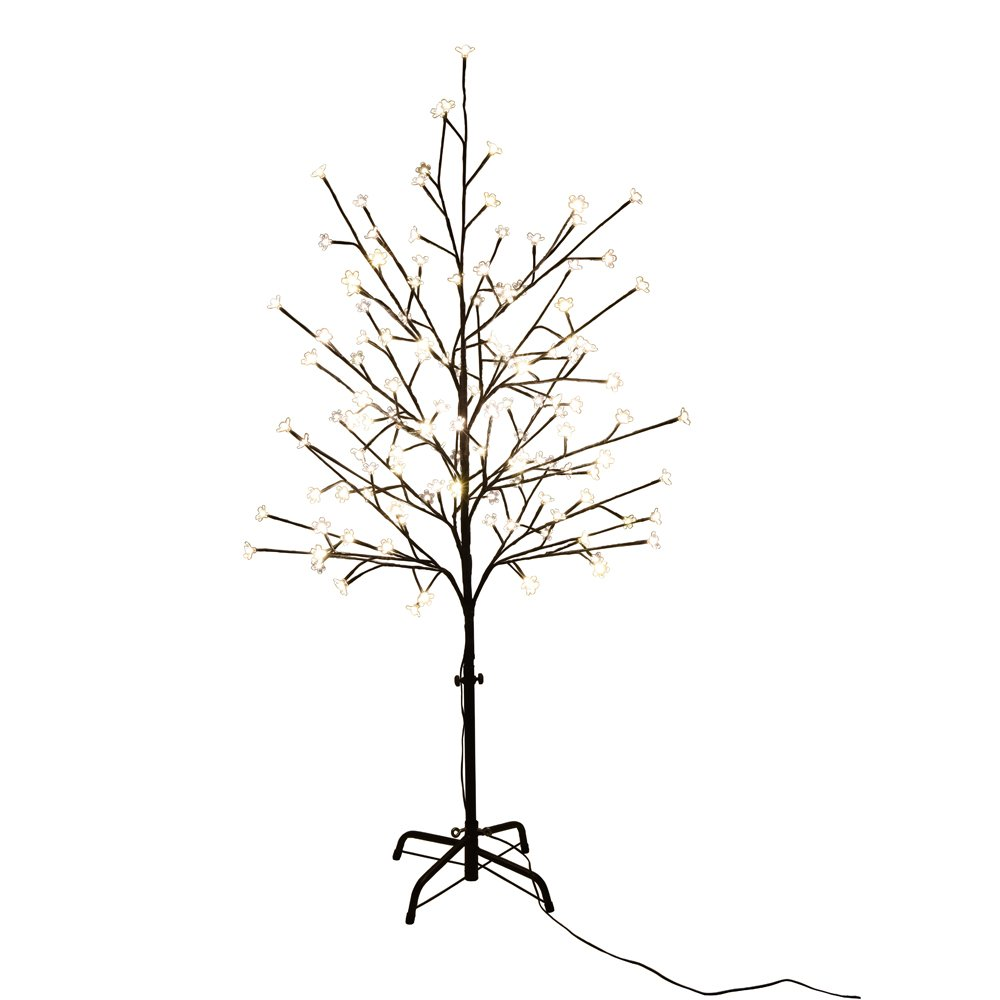 Lightshare Cherry Blossom Lighted Tree 5 Feet, RGB With Remote Control, 16 Color-changing Modes, Perfect For Home decoration, party, wedding