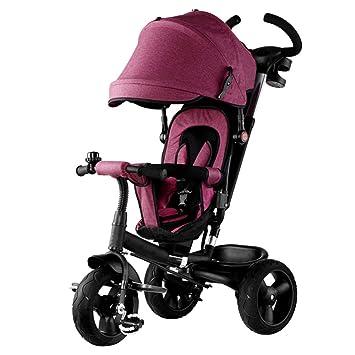Carretilla para Niños 4 En 1 Pedal De Triciclo Carro De Mano Cochecito De Bicicleta De Bebé/Sport Jogger/Pram/Buggy Trike,A: Amazon.es: Hogar