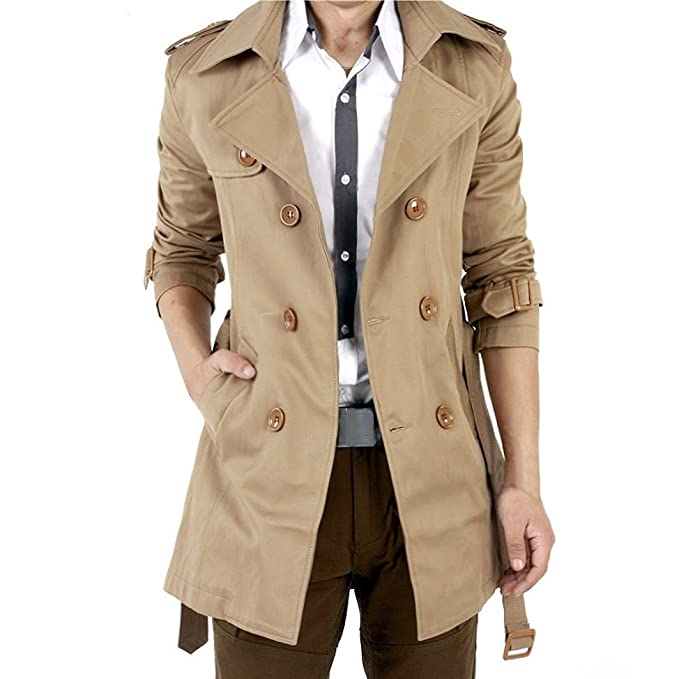 Trench Doppio Lungo Uomo Coat Breasted Hiroo Parka Inverno Cappotto qwxgTWXt0