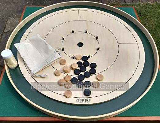 Tracey Tour Championship Crokinole Board (Masters Green Ditch and Hole with 26 disks): Amazon.es: Juguetes y juegos